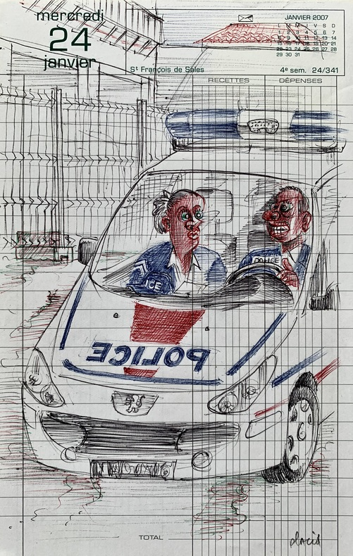 Police.. (GRAPHZINE) PLACID (Jean-François DUVAL, dit).