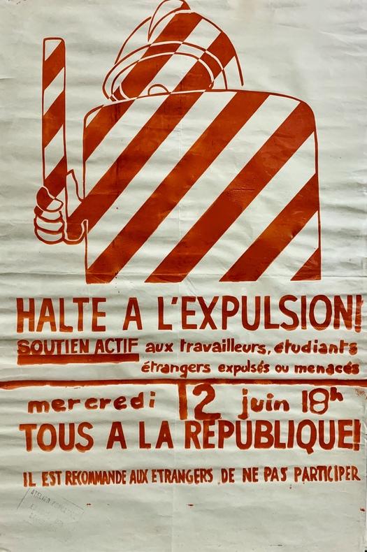 Halte à l'expulsion. Soutien actif aux travailleurs, étudiants étrangers, expulsés ou menacés. Mercredi 12 Juin 18 h, tous à la République ! Il est ...