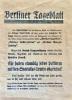 Berliner Tageblatt et Rudolf Mosse contre Spartacus, tract politique allemand.. MOSSE (Rudolf).