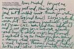 Lettres et documents envoyés à Michel Bulteau entre 1999 et 2002.. HELL (Richard).
