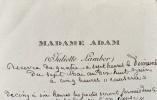 A propos de L'Enterrement d'une étoile et de Victor Hugo.. ADAM (Juliette).