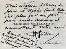 Remerciements et regrets.. GUILLAUME (Albert).