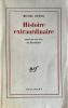 Histoire extraordinaire, essai sur un rêve de Baudelaire.. BUTOR (Michel).