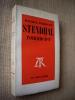 STENDHAL romancier.. BARDECHE Maurice