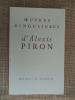 Oeuvres singulières d'Alexis Piron .. PIRON Alexis. (recueillies par A. Sloïmovici)