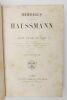 Mémoires du baron Haussmann. HAUSSMANN, Georges Eugène (baron)