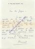 Correspondance de Marcel Achard à Jacques Natanson.. ACHARD Marcel - NATANSON Jacques