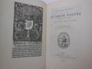DES GRAVURES SUR BOIS DANS LES LIVRES DE SIMON VOSTRE, libraire d'heures, par Jules RENOUVIER, avec un avant propos par Georges DUPLESSIS. . RENOUVIER ...