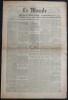 LE MONDE N° 65 - Samedi 3 mars 1945 ~ Le Pt Roosevelt rend compte au congrès de la conférence de Crimée.. Collectif