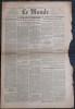 LE MONDE N° 78 - Dimanche-lundi 18-19 mars 1945 ~ Les tentatives allemandes de pourparlers de paix.. Collectif