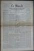 LE MONDE N° 90 - Dimanche-lundi 1er-2 avril 1945 ~ Jonction imminente des armées alliées à l'est de la Ruhr ?. Collectif