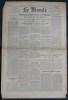 LE MONDE N° 92 - Mercredi 4 avril 1945 ~ Profonde pénétration en Hollande des forces de Montgomery.. Collectif