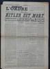 L'ORDRE N° 78 - Jeudi 3 mai 1945 - Hitler est mort. Berlin est pris.. Collectif