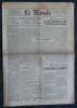 LE MONDE N° 818 - Dimanche 14 septembre 1945 - Le Parti Communiste et le RPF veulent politiser les élections municipales.. Collectif