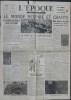 L'ÉPOQUE N° 1104 - Mercredi 9 mai 1945 - Le monde respire et chante.. Collectif.
