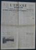 L'ÉPOQUE N° 1109 - Mardi 15 mai 1945 - La France a voulu voter pour un renouveau.. Collectif.