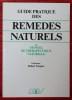 GUIDE PRATIQUE DES REMÈDES NATURELS ou manuel de thérapeutique naturelle . TOCQUET, Robert.