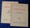 POÉSIES  Tome I : Le poème des décadences. Les sept solitudes Tome II : Les éléments. Autres poèmes. Symphonies. Nihumim. Adramandoni. La Confession ...