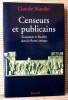 CENSEURS ET PUBLICAINS économie et fiscalité dans la Rome antique. NICOLET, Claude