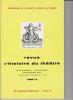 REVUE D'HISTOIRE DU THÉÂTRE • Numéro 139. Société d'histoire du théâtre
