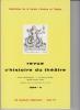 REVUE D'HISTOIRE DU THÉÂTRE • Numéro 144. Société d'histoire du théâtre