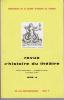 REVUE D'HISTOIRE DU THÉÂTRE • Numéro 156. Société d'histoire du théâtre