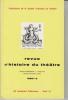Revue d'Histoire du Théâtre • Numéro 126 Tricentenaire de la Comédie-Française. Société d'histoire du théâtre