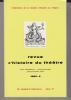 Revue d'Histoire du Théâtre • Numéro 128 Numéro bibliographique. Société d'histoire du théâtre