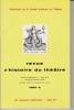 Revue d'Histoire du Théâtre • Numéro 134 VICTOR HUGO. Société d'histoire du théâtre