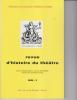 Revue d'Histoire du Théâtre • Numéro 231. Société d'histoire du théâtre