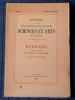 Bulletin de la société d'agriculture sciences et arts de la  Sarthe N° 400, numéro spécial 1965, IVe série Tome V . Société d'agriculture, sciences ...