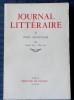 JOURNAL LITTÉRAIRE Tome XI  Janvier 1935 - Mai 1937. LÉAUTAUD, Paul