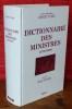 DICTIONNAIRE DES MINISTRES. YVERT, Benoit.
