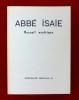 ABBÉ ISAÏE Recueil ascétique introd. et trad. française par les Moines de Solesmes.