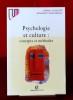 PSYCHOLOGIE ET CULTURE : concepts et méthodes. CAMILLERI, Carmel VINSONNEAU, geneviève