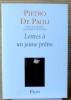 LETTRES À UN JEUNE PRÊTRE   . DE PAOLI, Pietro