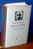 ŒUVRES EN PROSE préface par Gaëtan Picon ; édition établie et annotée par Jacques Petit, et Charles Galpérine. Le discours d'Anima / Gaëtan Picon. ...