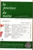 LA PROVINCE DU MAINE TOME 75 - 4e Série : Tome II - Fascicule 8. Collectif