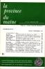 LA PROVINCE DU MAINE TOME 76 - 4e Série : Tome III - Fascicule 11. Collectif