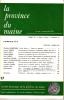 LA PROVINCE DU MAINE TOME 78 - 4e Série : Tome V - Fascicule 17. Collectif