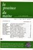 LA PROVINCE DU MAINE TOME 79 - 4e Série : Tome VI - Fascicule 21. Collectif