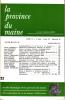 LA PROVINCE DU MAINE TOME 79 - 4e Série : Tome VI - Fascicule 22. Collectif