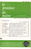 LA PROVINCE DU MAINE TOME 79 - 4e Série : Tome VI - Fascicule 23. Collectif