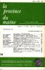 LA PROVINCE DU MAINE TOME 79 - 4e Série : Tome VI - Fascicule 24. Collectif