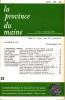 LA PROVINCE DU MAINE TOME 80 - 4e Série : Tome VII - Fascicule 25. Collectif