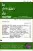 LA PROVINCE DU MAINE TOME 80 - 4e Série : Tome VII - Fascicule 26. Collectif