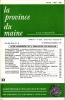LA PROVINCE DU MAINE TOME 81 - 4e Série : Tome VIII - Fascicule 32. Collectif