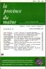 LA PROVINCE DU MAINE TOME 82 - 4e Série : Tome IX - Fascicule 35. Collectif