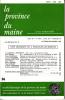 LA PROVINCE DU MAINE TOME 82 - 4e Série : Tome IX - Fascicule 36. Collectif