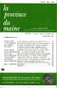 LA PROVINCE DU MAINE TOME 83 - 4e Série : Tome X - Fascicule 38. Collectif